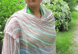 100% Natural Cotton Gossamer Woven Multi-colored Scarf