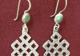 Silver Tibetan Eternal Knot Earrings