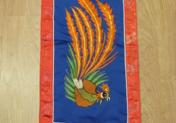 Embroidered Peacock Wall Hanging