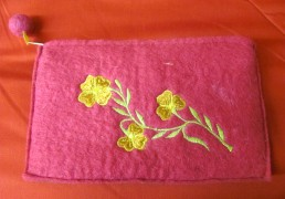 Boiled Wool Felted Nepalese Wallet
