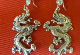 Silver Bhutanese Dragon Earrings