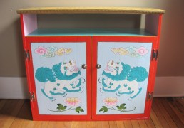Hand-Painted Shrine Room Cabinet