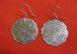 Silver Celtic Mandala Earrings