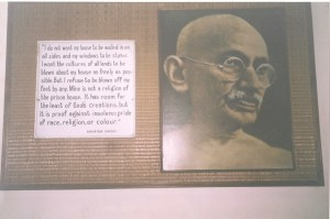 Display inside the Gandhi Museum