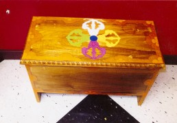 Traditional Hand-painted Tibetan Buddhist Puja Table