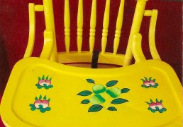 Hand-Painted High Chair