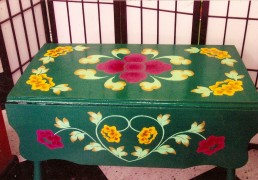 Hand-Painted Folding Table