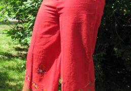 100% Natural Woven Cotton 3/4 Length Pants