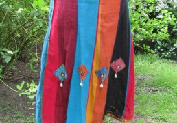 100% Natural Woven Cotton Patchwork Skirt