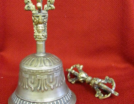 Bronze Tibetan Bell and Dorje