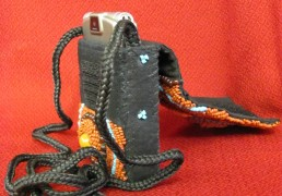 Hand Beaded Cell Phone Bag