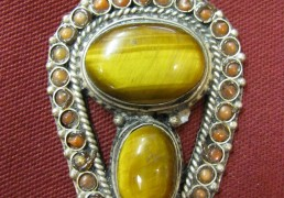 Tibetan Stone & Silver Pendant