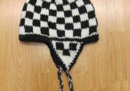 Checkerboard Tibetan Wool Fleece Lined Hat