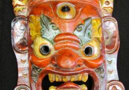 Handmade Tibetan Wooden Mask