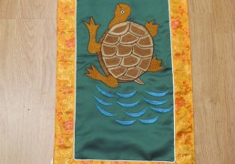 Embroidered Turtle Wall Hanging