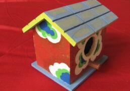 Hand-Painted Bird House