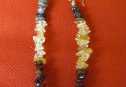 Long Stone Chip Earrings