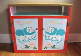 Hand-Painted Shrine Room Cabinet
