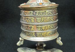 Large Metal Tabletop Prayer Wheel