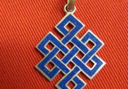 Tibetan Eternal Knot Pendant, Small