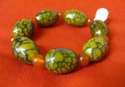 Tibetan Glass Bead Bracelet
