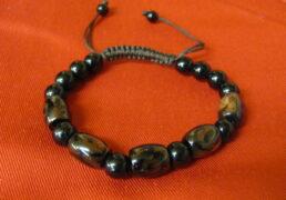 Tibetan Brown Glass Bead Bracelet