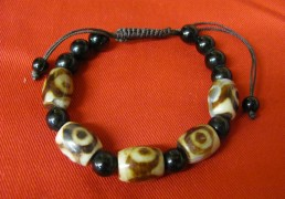 Tibetan Dzi Bead Bracelet