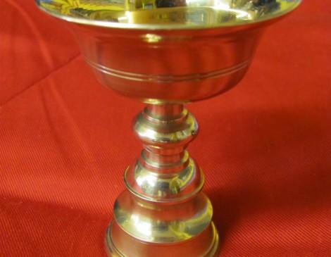 Bronze Tibetan Butterlamp, Curved Cup