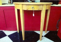 Hand-Painted Demi-Lune Table