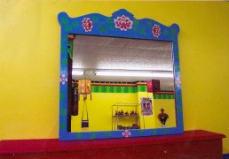 Hand-Painted Mirror Frame, Blue