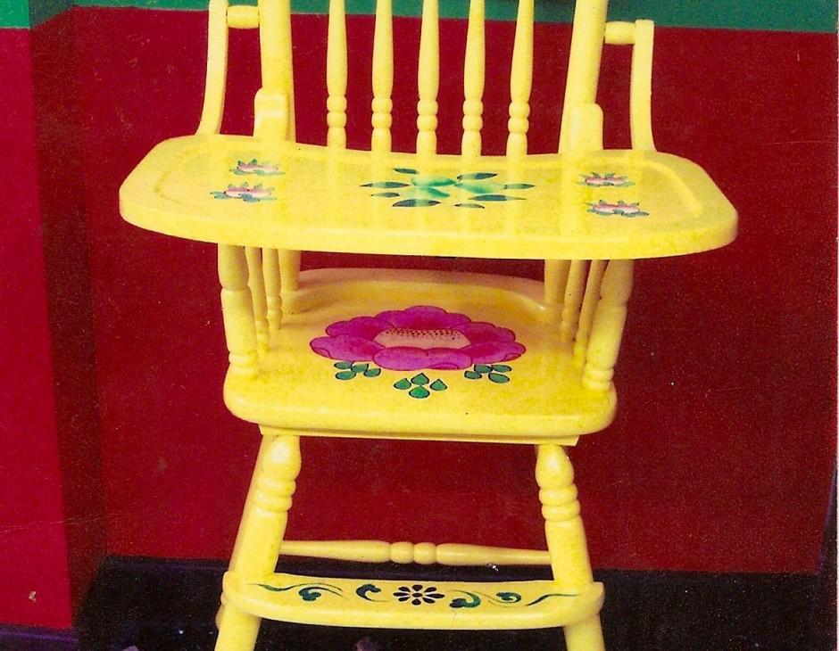 Hand Painted High Chair Little Moon Tibetan Gift Shop