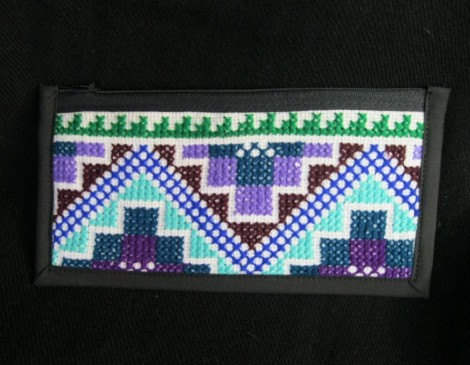 Cross Stitched Wallet